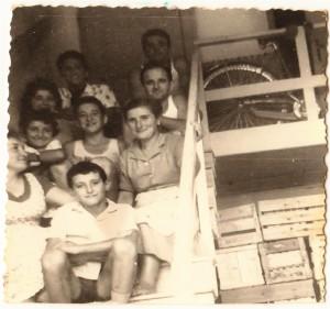 La famiglia Lago negli anni '50.