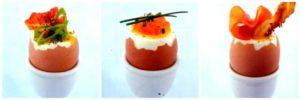 Fantasie di uova alla coque