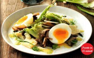 Uova, puntarelle e cardoncelli